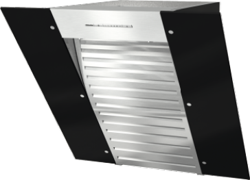 DA 6066 W Black Wing - Dekorventilatorer for vegg med energibesparende LED-belysning og tipptaster for komfortabel betjening.--NO_COLOR